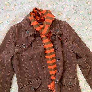 Brown and orange textured coat